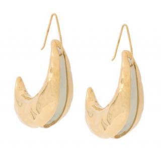 Marni brass hook tribe earrings