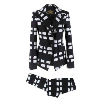 Vivienne Westwood Anglomania Black & White Printed Suit
