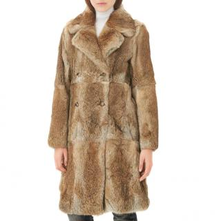 Sandro Merry Rabbit Fur Coat
