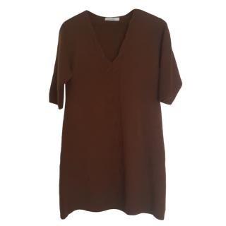 Max Mara Brown Wool Jumper Dress