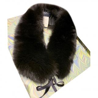 Max Mara Black Fox Fur Collar