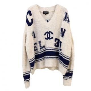 Chanel Varsity Logo Oversized Jumper - 2019