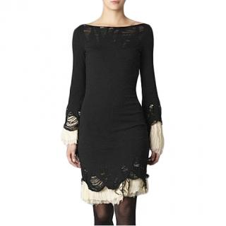 Alexander McQueen Distressed Knit Dress
