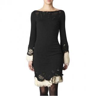 Alexander McQueen Distressed Knit Dress