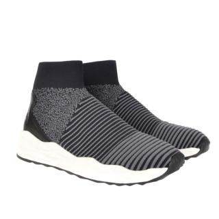 Ash Spotted Sock Knit Grey Trainer