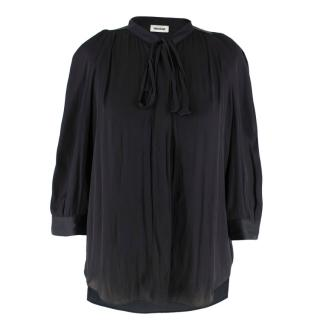 Zadig & Voltaire Touch Satin Black Tunic