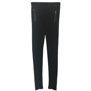 Chanel Black Zip Detail Leggings