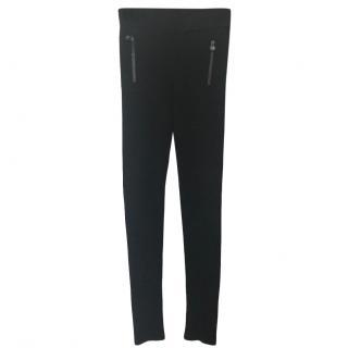 Chanel Black Zip Detail Leggings
