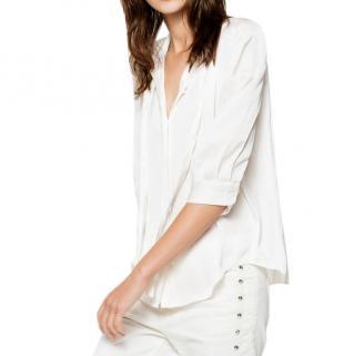 Zadig & Voltaire White Touch Satin Shirt