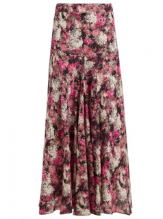 Raey Silk Floral Print Maxi Skirt