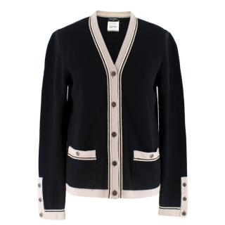 Chanel Black Cashmere Cardigan