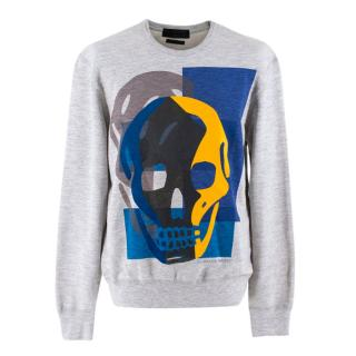Alexander McQueen Grey Skull Pullover