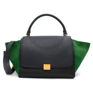 Celine Tri-Colour Suede & Leather Trapeze Bag