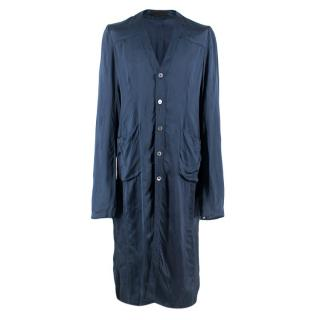 Alexander McQueen Men's Blue Silk Smoking Jacket