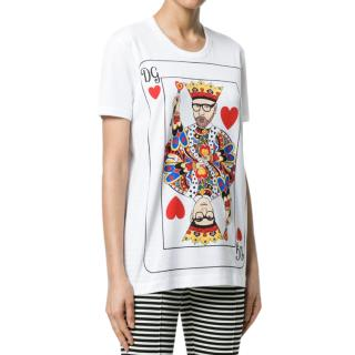 Dolce & Gabbana King Of Hearts Print T-shirt