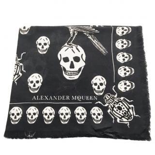 Alexander McQueen Creature of Paradise Silk Skull Scarf