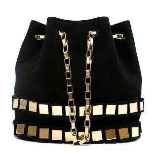 Tomasini Black Et20 Suede Bucket Bag