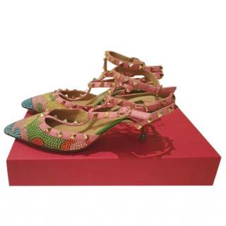Valentino Multi-Coloured Crystal Embellished Sandals