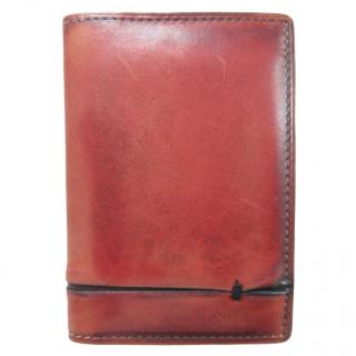 Berluti Antique Red Burnished Leather Card Holder