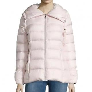 Karl Largerfeld Pale Pink Quilted Puffer Coat