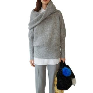 Acne Studios Mohair Blend Raze High Funnel Neck