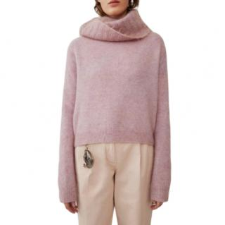 Acne Studios Raze Mohair Blend Pink Sweater