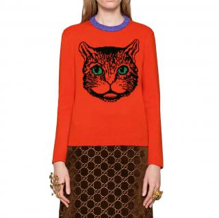 Gucci Mystic Cat Wool Knit Jumper