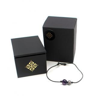 Shamballa Jewels Amethyst & Diamond Star of Shamballa Orb Bracelet