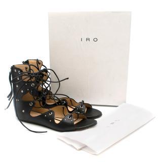 Iro Xira Lace-Up Flat Sandals