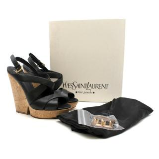 Yves Saint Laurent Deauville Cross Wedge Pumps