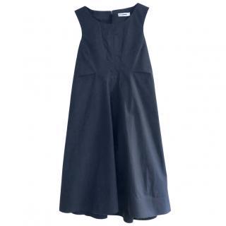 Jil Sander Navy Cotton Voile Dress