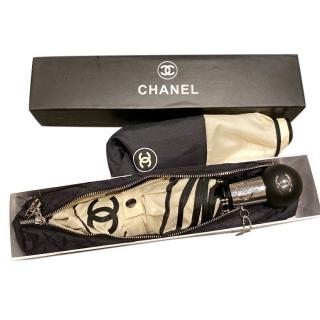 Chanel Two-Tone Umbrella W/ Quilted Case