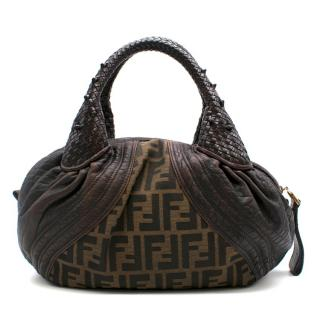 Fendi Leather & Monogram Canvas Spy Bag