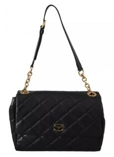 Dolce & Gabbana Black Quilted Leather Shoulder Bag