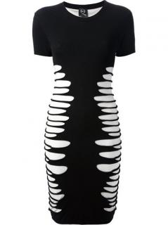 McQ by Alexander McQueen Shredded Shift Dress