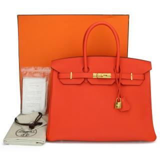Hermes Togo Leather HSS Special Order Capucine 35cm Birkin