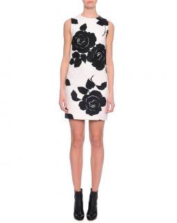 Dolce & Gabbana floral-print jacquard dress