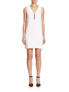 Alexander Wang White Studded Shift Dres