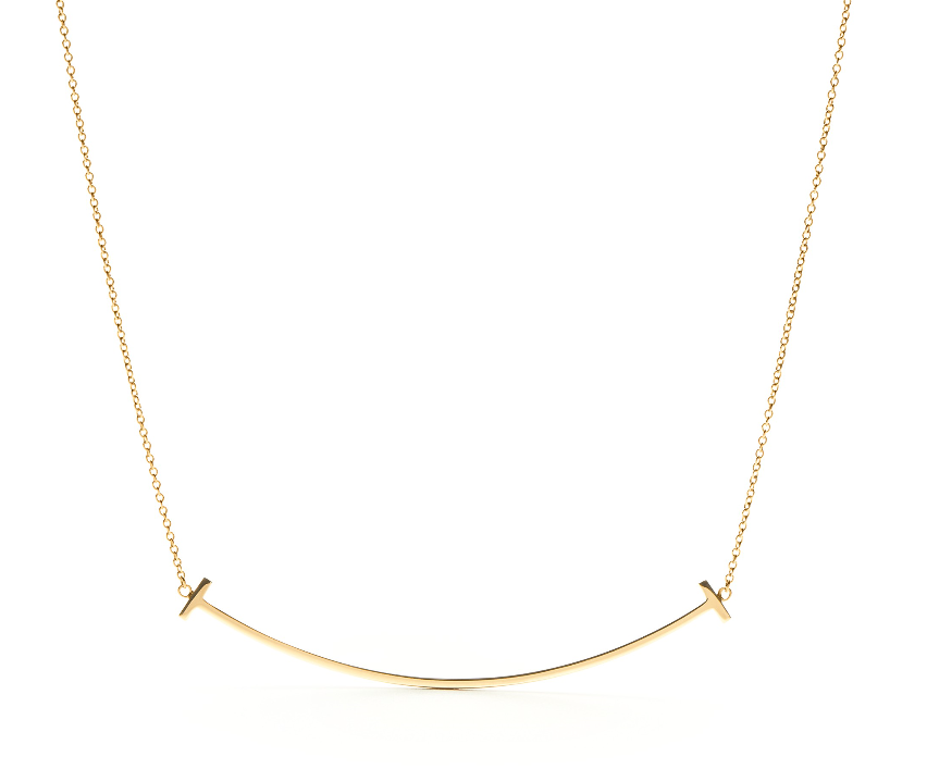 Tiffany & Co. T Collection 18k Yellow Gold Smile Necklace