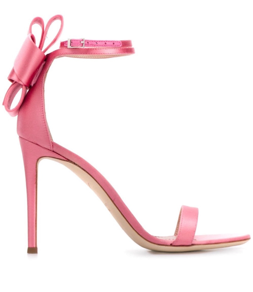 Giuseppe Zanootti Pink Satin Bow Detail Sandals