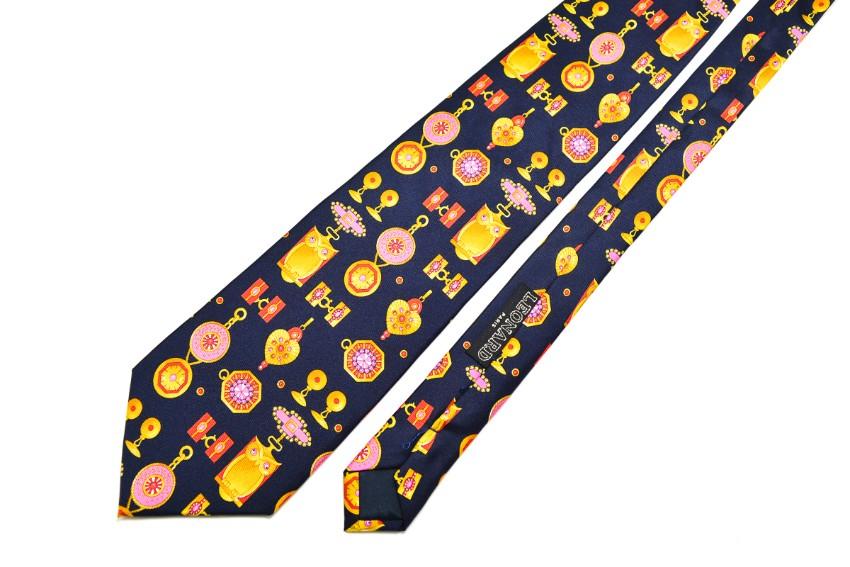 Leonard Paris Men's Printed Silk Tie