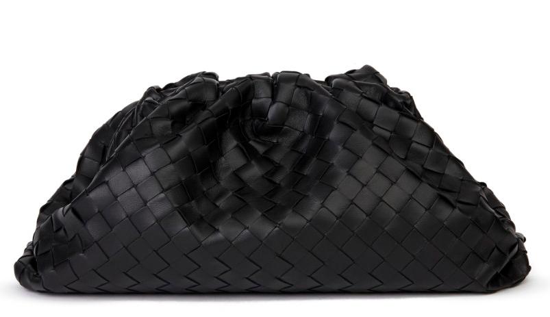 Bottega Veneta Intrecciato Leather The Pouch Clutch