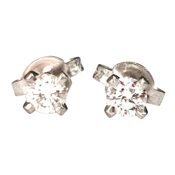 Bespoke Diamond Solitaire Earrings