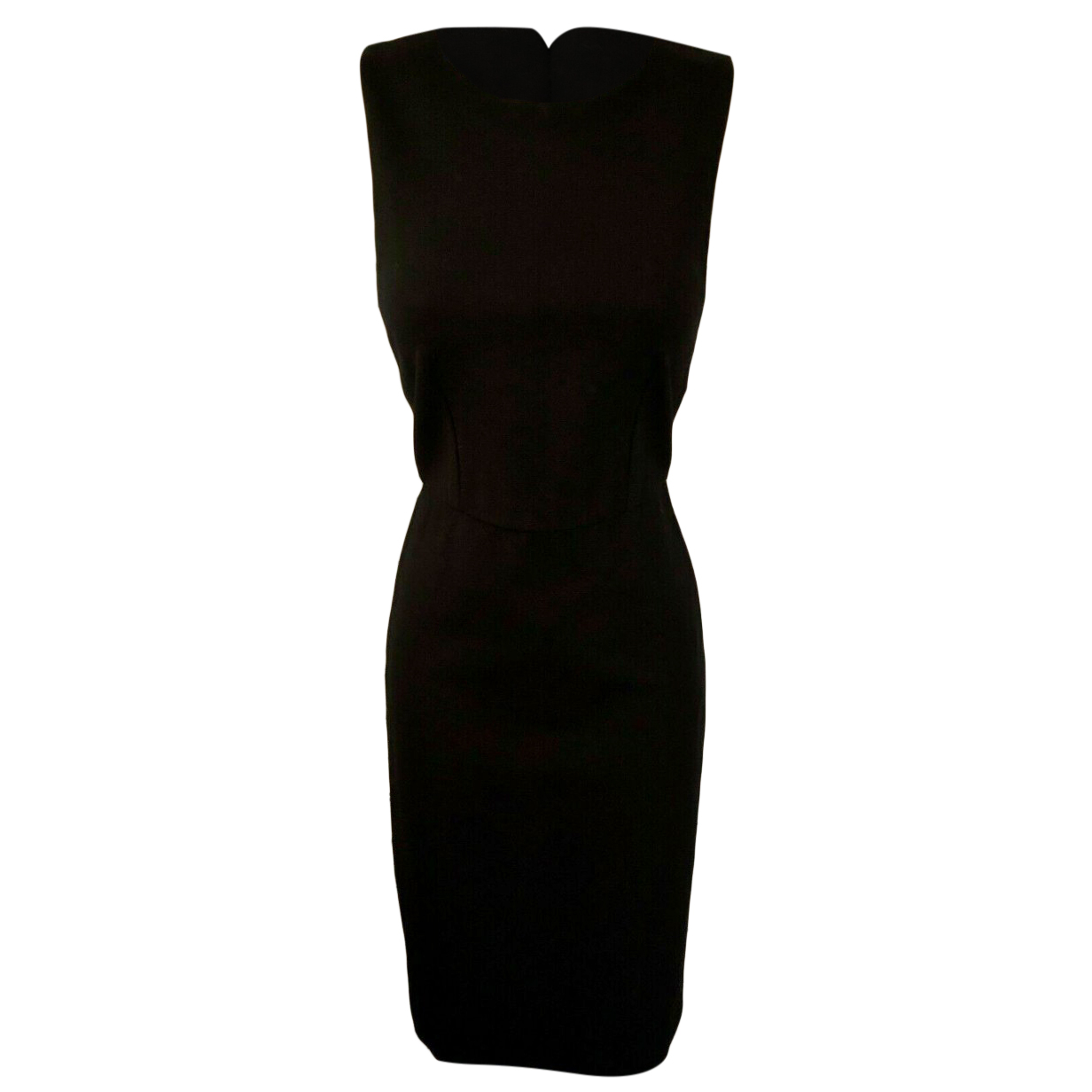 Sportmax Black Fitted Sleeveless Dress