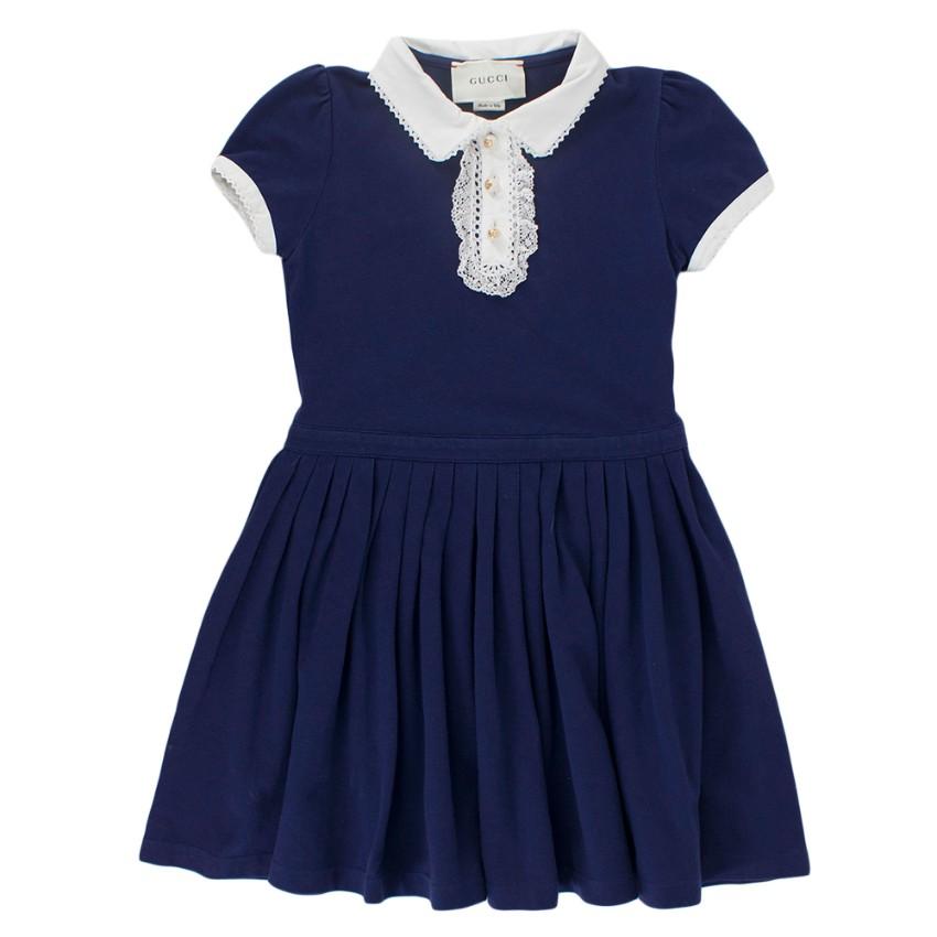 Gucci Knit Jersey Poplin Dress