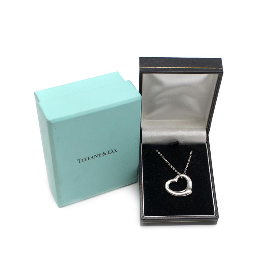 Tiffany & Co. by Elsa Peretti Sterling Silver Open Heart Pendant