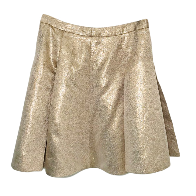 Kate Spade metallic gold pleated skirt