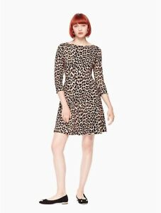 Kate Spade fit and flare leopard print dress