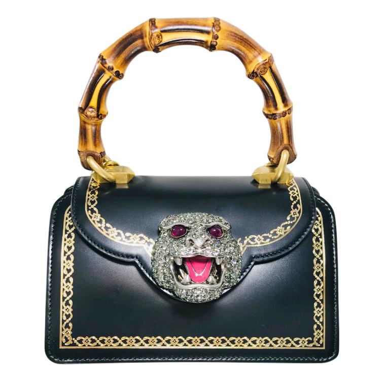 Gucci Small Black Leather Thiara Bag