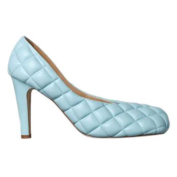 Bottega Veneta Pale Blue Padded Bloc Pumps - New Season